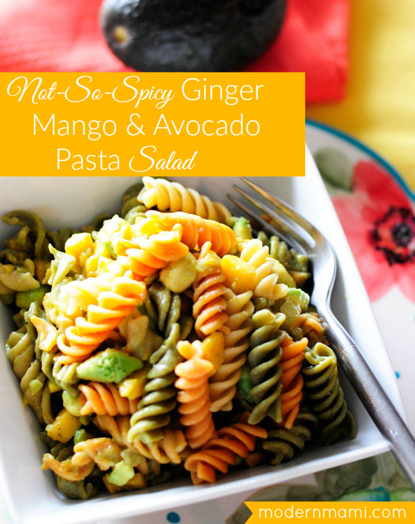 Ginger Mango & Avocado Pasta Salad Recipe