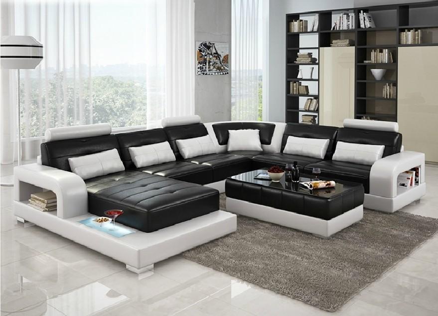 divani casa 6145 modern black and white