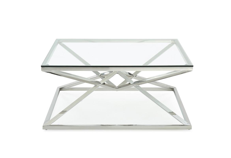 Modrest Xander Modern Square Glass Coffee Table