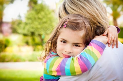 Image result for parent hugging child