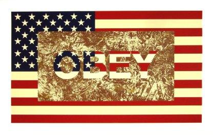 Artist: Richard Duardo Title: Flag Series: Obey (A/P)