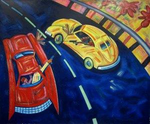 Artist: Frank Romero Title: Freeway Wars (Pub/P)