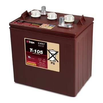 Trojan T-105 Deep Cycle battery (golf cart)