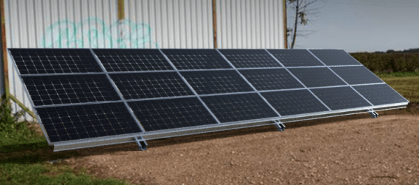 titan lite fixed solar ground mount installation