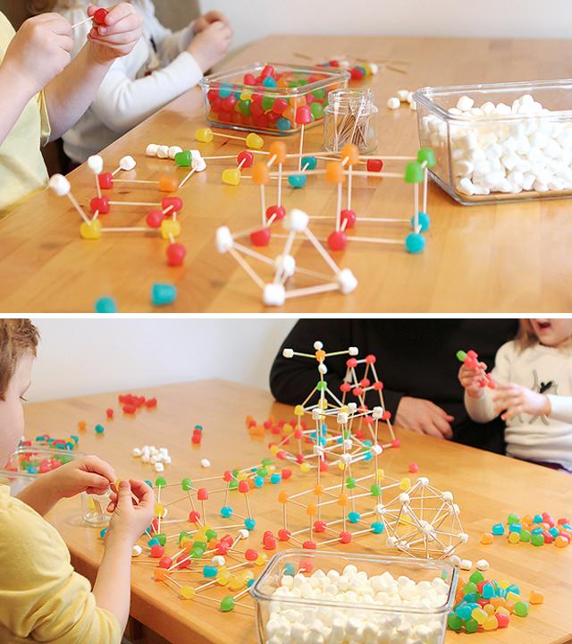 Stem Activity For Kids Gum Drop Structures