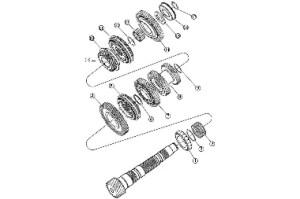 T850 Output Shaft Components, 0405 Neon SRT4, Transmission: Store Name