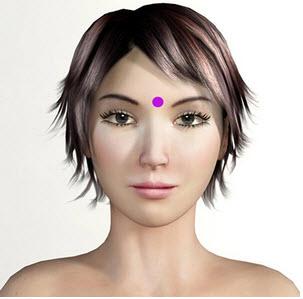 Third Eye Point d'acupression