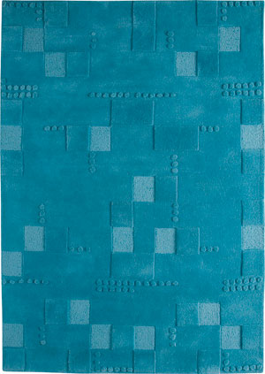 Mat Blue Hilo Solid Color Rug From The Textured Rugs Collection At Modern Area Rugs