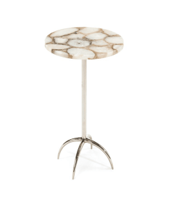 living room agate side table nickel