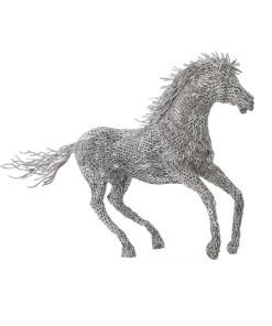 accessories horse pipe sculpture running