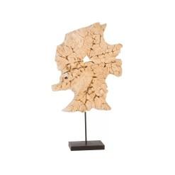 accessories teak sculpture 34-inch