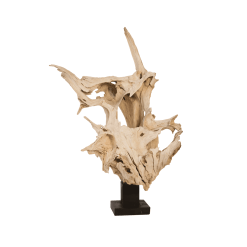 accessories teak sculpture 37-inch