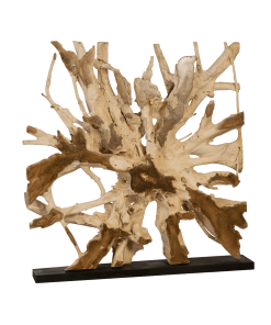 accessories teak sculpture 59-inch