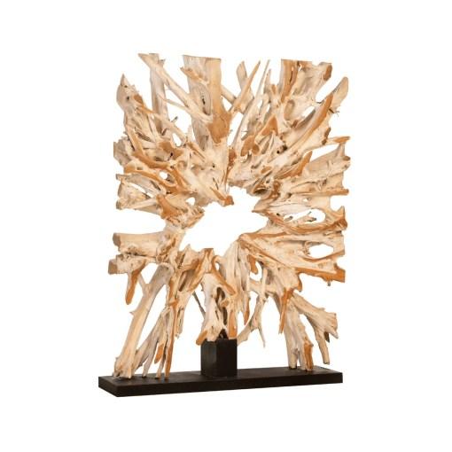 accessories teak sculpture 64-inch