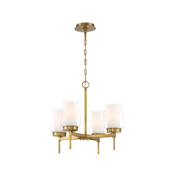 lighting manchester 21-inch chandelier brass