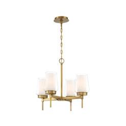 lighting manchester 21-inch chandelier brass