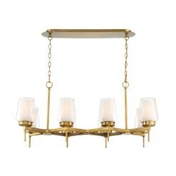lighting manchester 38-inch chandelier in brass