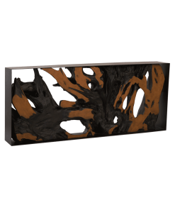living room cast root brown console table