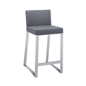 architect counter stool grey