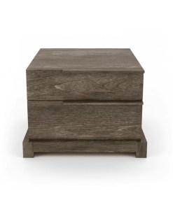 bedroom silk 2-drawer nightstand