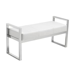 darby bench white leather