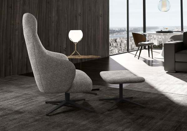bradhurst lounge chair and ottoman griffin liveshot