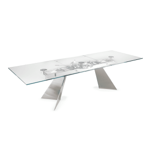 dining room mabilia table glass
