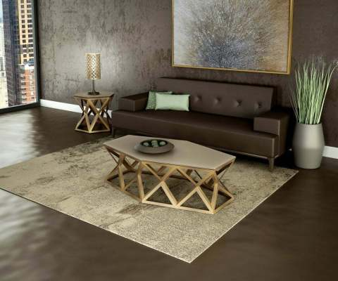 icon coffee table in living room