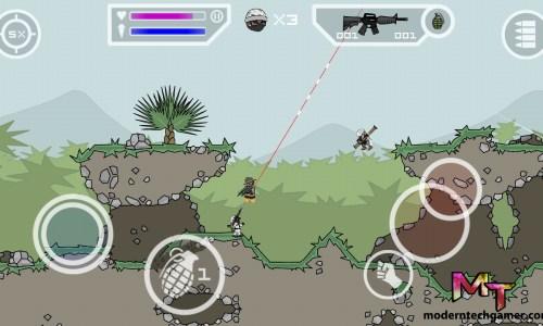 mini militia game play screen shot