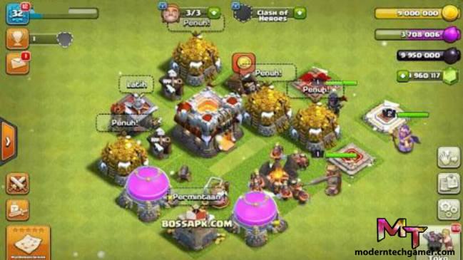 clash of clans mod apk gameplay