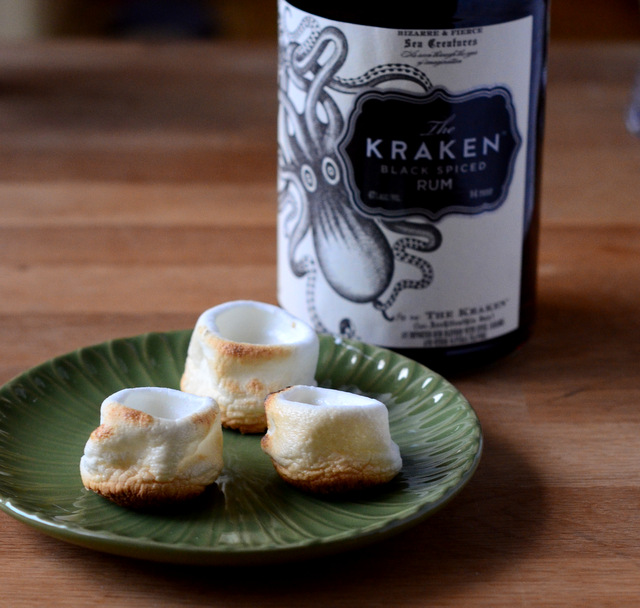 Toasted Marshmallow Tiki Shots