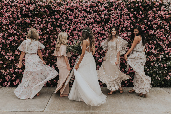 The Magic Of Mismatched Bridesmaid Dresses - Modern Wedding