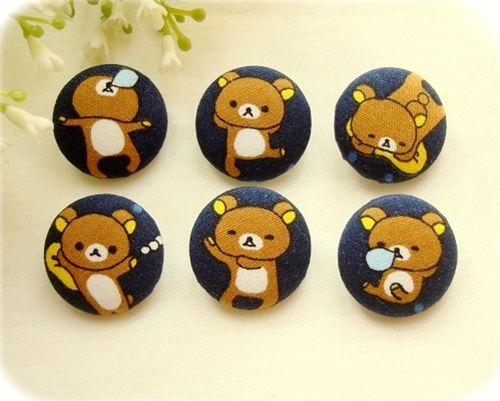 cute Rilakkuma buttons