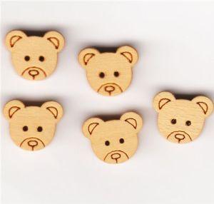Wooden Bear Buttons