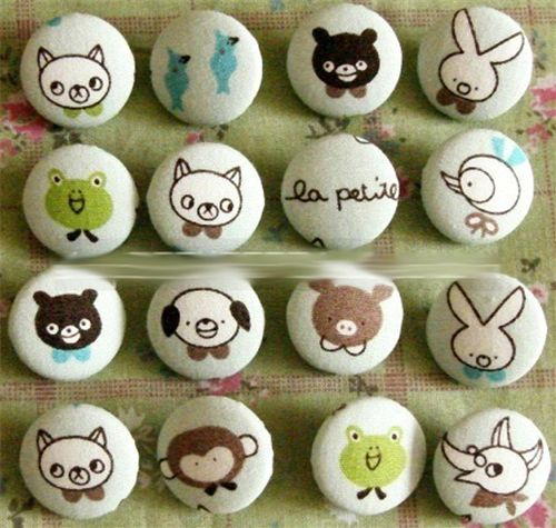 cute animals buttons