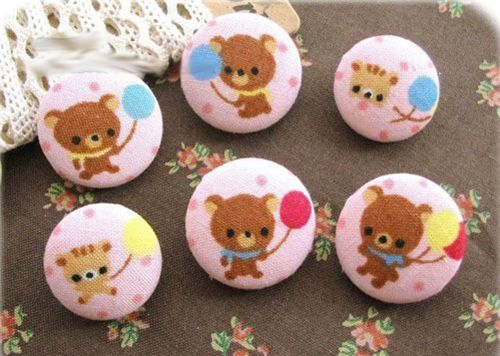 cute bear buttons