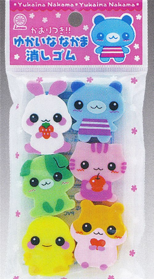 cute animal erasers from Japan
