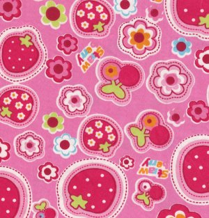 Flower Strawberry Fabric