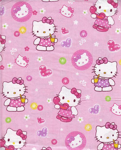 cute Hello Kitty fabric