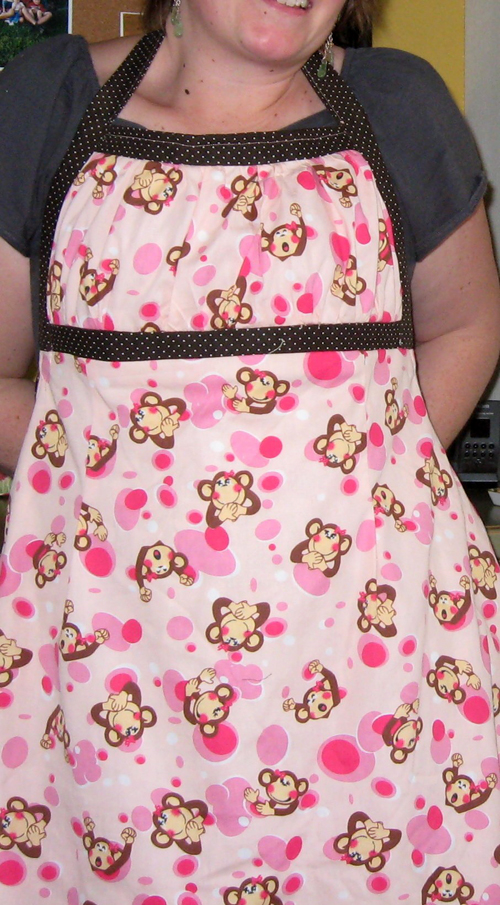 kawaii monkey apron