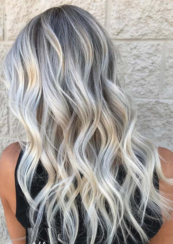 22 Adorable Grey Blonde Hair Color Ideas In 2018 Modeshack