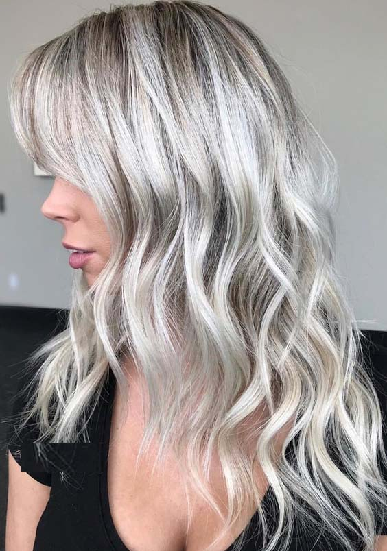 31 Famous Platinum White Blonde Hair Color Shades For 2018