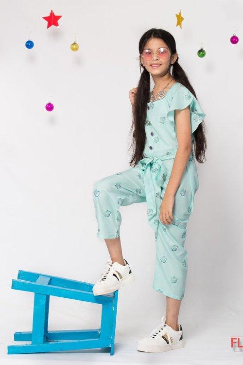 Ice blue Jump suit