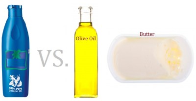 coconut oil vs. olive oil