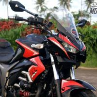 Suzuki Gixxer Modified Red - Z1000 Inspired Tourer
