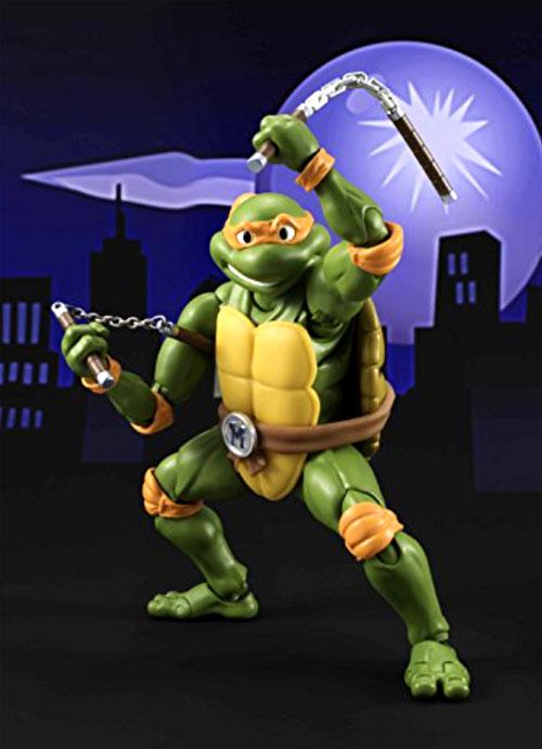 Bandai Tamashii Nations S.H. Figuarts Teenage Mutant Ninja Turtles Figures: Michelangelo