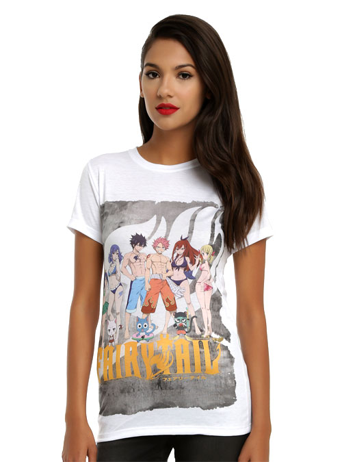 Woman Wearing a New Fairy Tail Anime T-Shirt