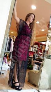 Φόρεμα δαντέλα μακρύ