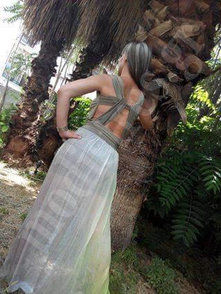 Φόρεμα κοντό με μουσελίνα μακριά - www.modistres.gr ce0703682bb