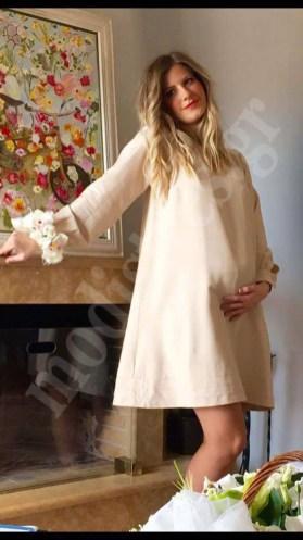 Φόρεμα πολιτικού γάμου για έγκυο